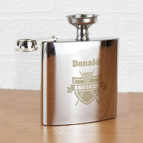 Personalised Snooker Hip Flask